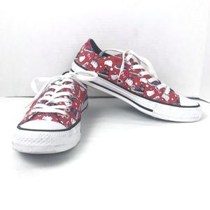 Converse Hello Kitty Low Top Sneakers Red Sz 7.5
